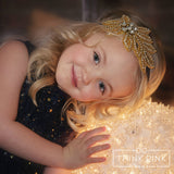 Royalty Gold Bridal & Flower Girl Wedding Rhinestone Bling Headband - Think Pink Bows - 3