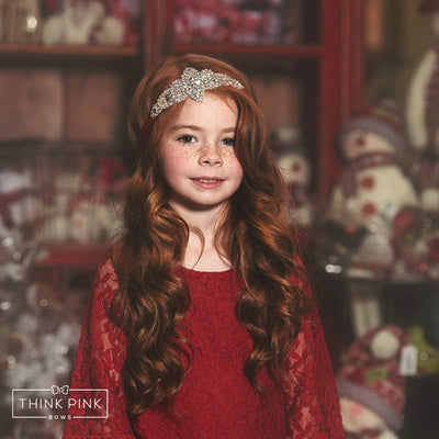 Frozen in Time Bling Headband - Red - 14 colors available