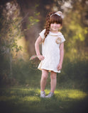 Cotton Lace Cream Tunic Dress - Think Pink Bows - 7