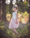 Swan Princess Champagne Tulle Skirt - Think Pink Bows - 3