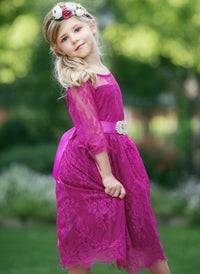 Versailles Flower Girl Dress Raspberry