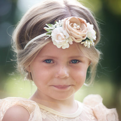 Avery Deluxe Flower Crown on Nylon Headband 4 Colors