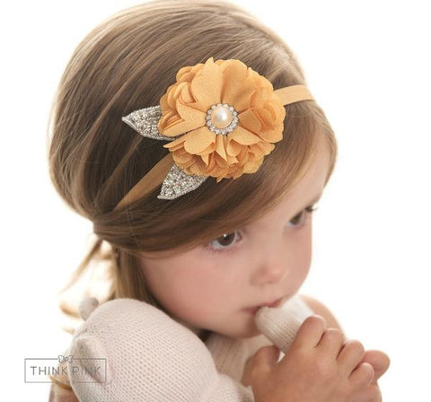 Tea Time Flower Headband - 4 Colors