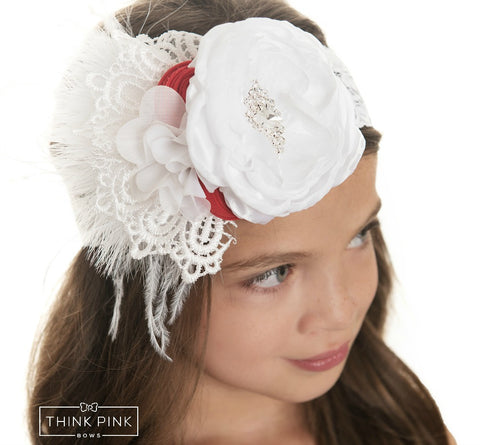 Peppermint Kisses Headband - Think Pink Bows