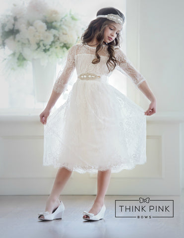 Versailles Flower Girl Dress  White or Buttercream