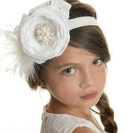 Amazing Grace Couture Headband - White
