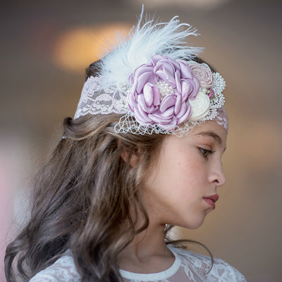 Addie Couture Flower Lace Headband