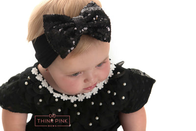Moonlight Waltz Sequin Bow Headband