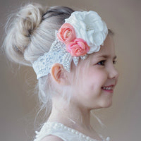 Desiree Flower Lace Headband