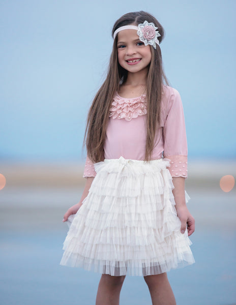 Sweet and Sassy Tiered Tulle Skirt - 3 colors available - Think Pink Bows - 1
