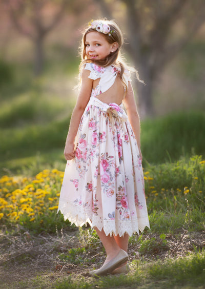 Alessia Yellow Floral Dress