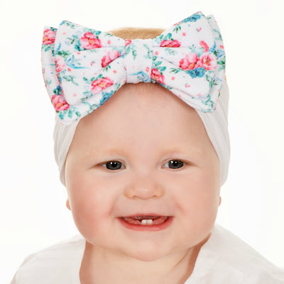 ALEXA DOUBLE BOW on NYLON  Headwraps - LL9
