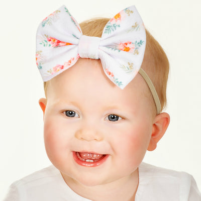 Lulu Bow Nylon Headband Prints | 4 Colors