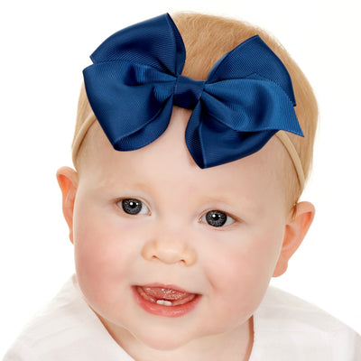 Ella Grosgrain BOWS Nylon Headbands 28 Colors