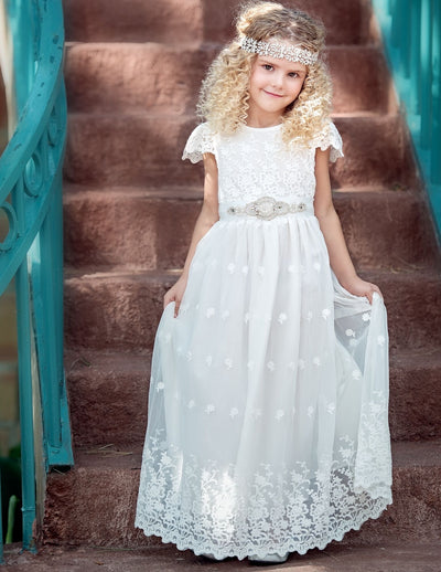 Kate Flower Girl Off White Dress
