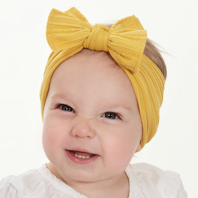 Cable Knit Nylon Headwraps Mustard 36