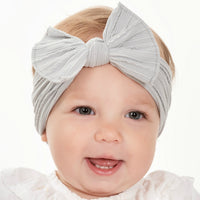 Cable Knit Nylon Headwraps Pearl Grey 10
