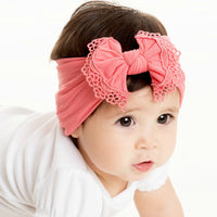 Lace Trim Nylon Headwrap 27 Colors