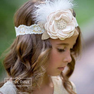 Nora Couture Flower Lace Headband