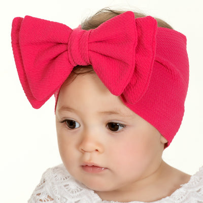 Lolita Big BOW  Headwraps PINK YARROW 22
