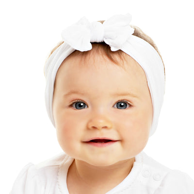 Knot Nylon Headwraps White 20