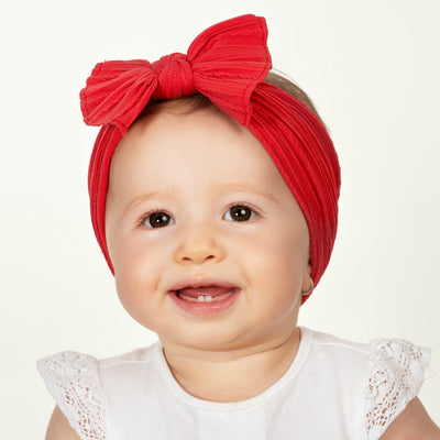 Cable Knit Nylon Headwraps RED 24