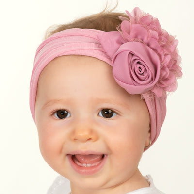 Couture Nylon Headwraps ROSE MAUVE 18