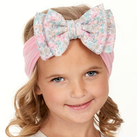 ALEXA DOUBLE BOW on NYLON   Headwraps - 15 Prints