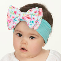 ALEXA DOUBLE BOW on NYLON  Headwraps - LL14
