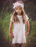 Cotton Lace Cream Tunic Dress - Think Pink Bows - 8