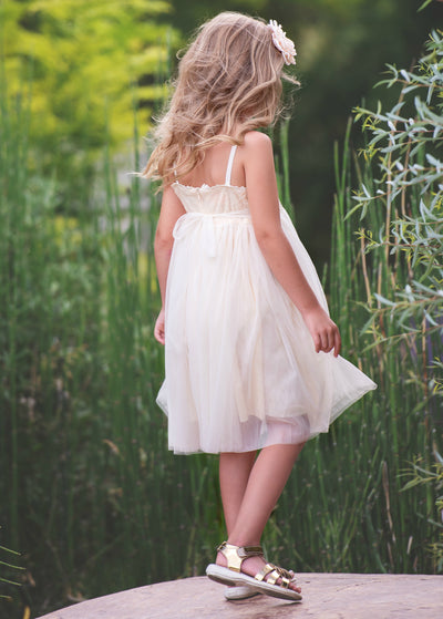 Beatrice Flower Girl Dress - Ivory