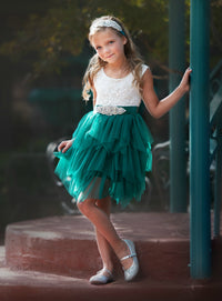 Claire Flower Girl Dress Emerald