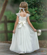 Georgia Belle Flower Girl Dress - Ivory
