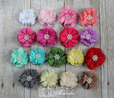 Soft Breeze Organza Flower Clippie - 19 Colors Available