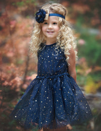 Midnight Sky Star Dress - Navy