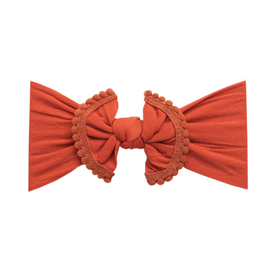 Pom Pom Nylon Headwrap Rust 46