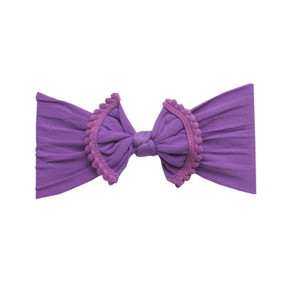 Pom Pom Nylon Headwrap Purple 21