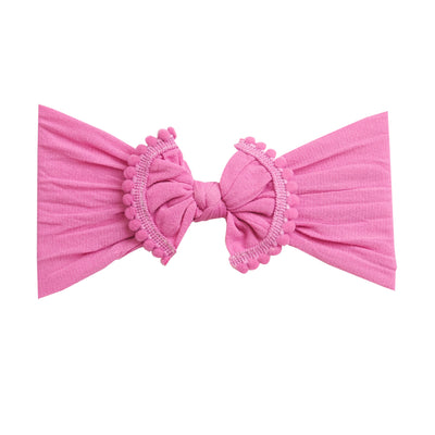 Pom Pom Nylon Headwrap Rose Pink 17