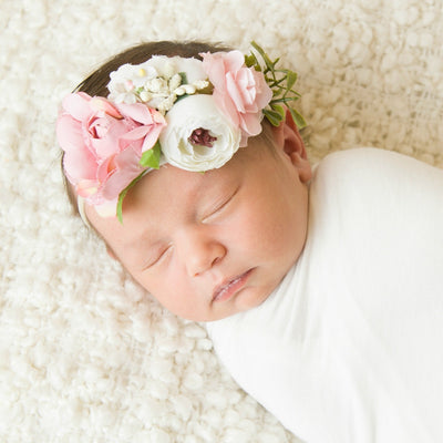 Style 49 Pocket Full of Posies Nylon Headband