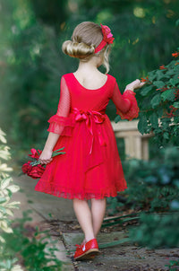 Cora Flower Girl Red Dress