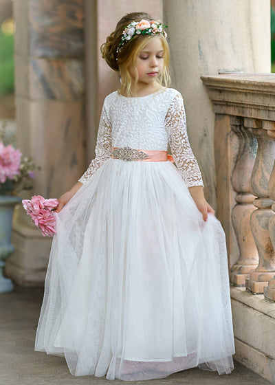 London Flower Girl Dress White