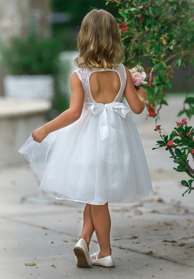 Alana Flower Girl Off White Dress