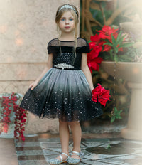 Amelie Black Flower Girl Dress