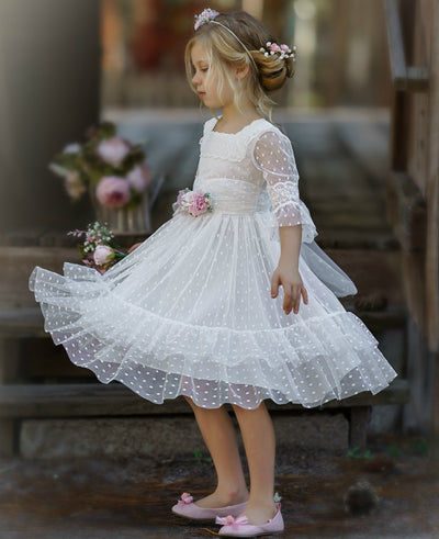 Ainhoa Short Flower Girl Dress