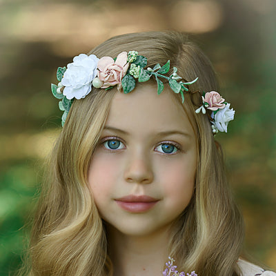 Kylie Flower Girl Crown