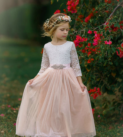 London Flower Girl Dress Blush
