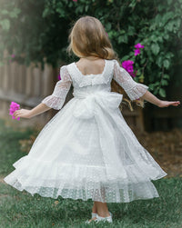 Ainoha Long Flower Girl Dress