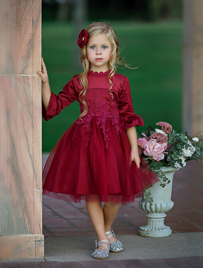 Elizabetta Dress - Burgundy