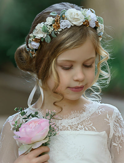 Luna Flower Girl Crown