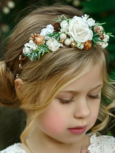 Tania Flower Girl Crown